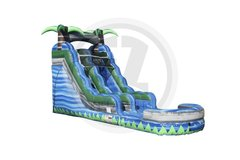 16 Foot Blue Crush Water Slide