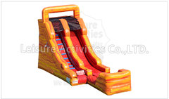 15 Foot Fire Marble Dry Slide