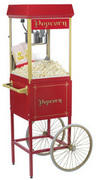 Popcorn Machine on Cart With 50 Servings