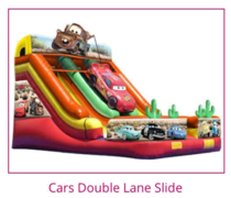 Cars double lane dry slide