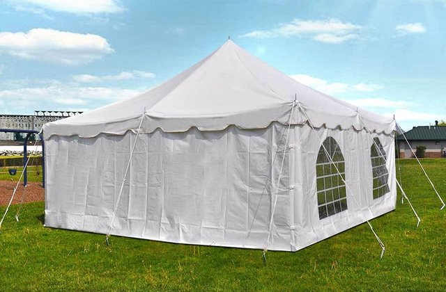 Enclosed Tent 20x20 White