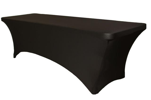 Tablecloth Rectangle Black Spandex