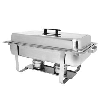 CHAFER- RECTANGULAR 8 QT LIFT TOP STAINLESS STEEL