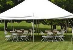 Tent 20x40 White w/ 90 chairs & 12 Tables