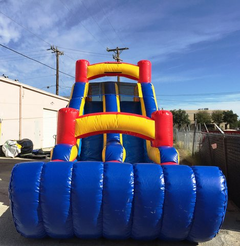 16 ft Dual Lane Slide w/Bumper