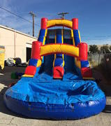 16 ft Dual Lane Wet Slide