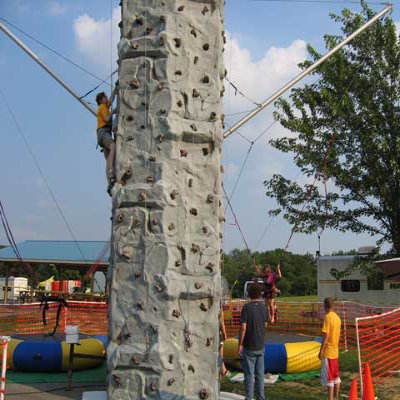 Rock Wall with Spider Jump Rental