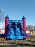 Red Blue Bounce House Rental