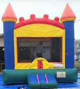 Red Blue And Orange Castle Bounce House