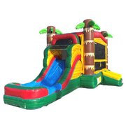 Palm Tree Bounce House With Water Slide
