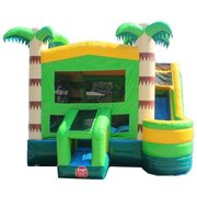 Tropical Palm Tree Bounce House With Slide