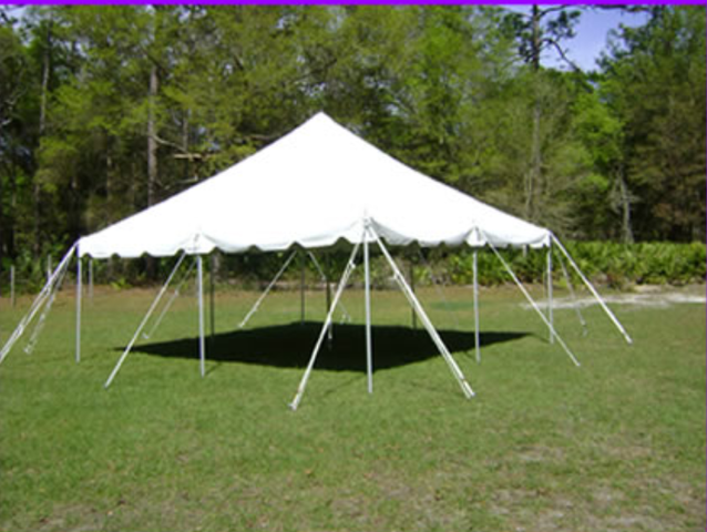 20 x 20 Pole Tent- Canvas White