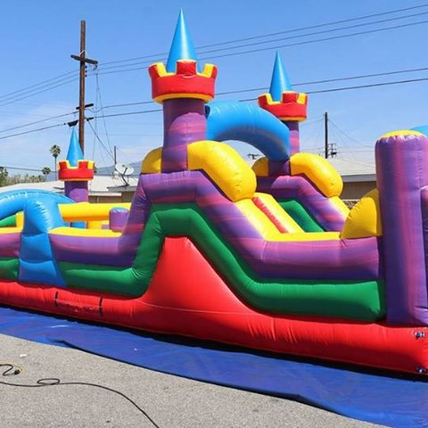 40ft Obstacle Course with Slide - DRY