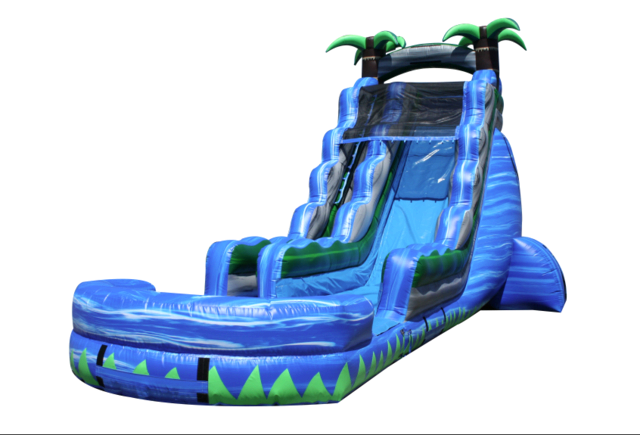 (c) 23ft Blue Crush Water Slide w/ POOL