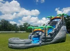 (e) 19ft Boulder Springs Water Slide w/ POOL