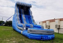 (e) 19ft Laguna Wave Slide with POOL