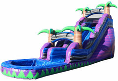 (e) 19ft Purple Crush Water Slide with POOL