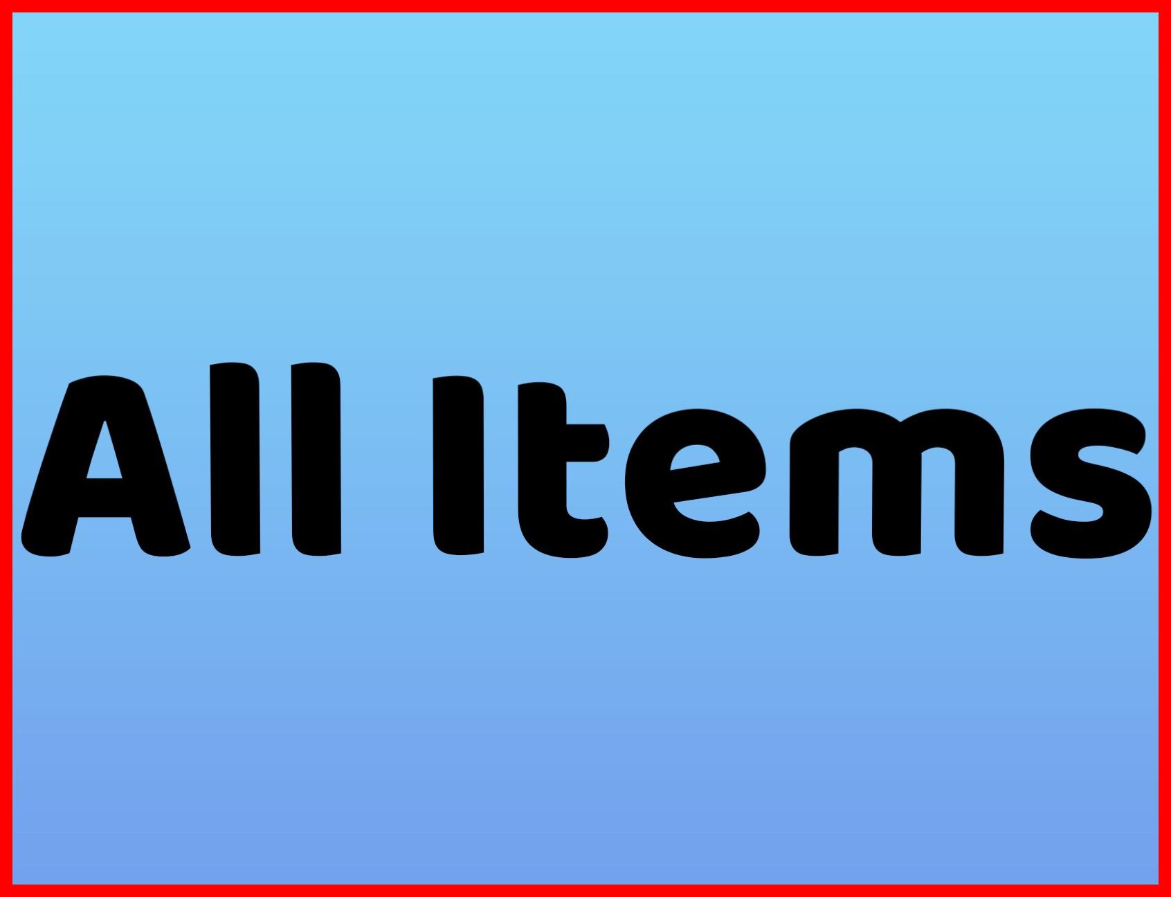 All Rental Items