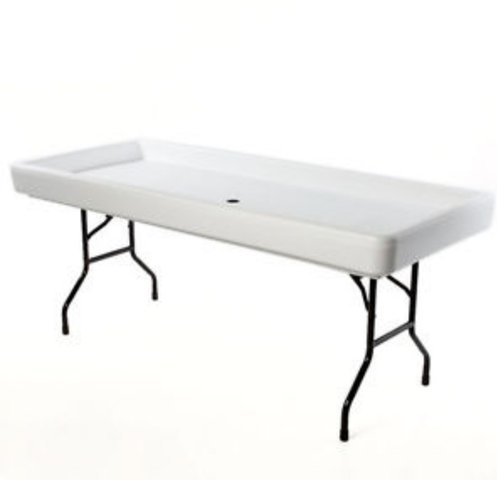 6' Chill Table - White