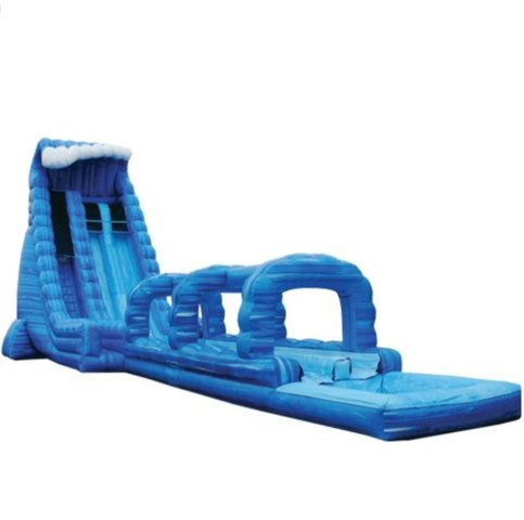 22' Blue Crush 2 Lane Water Slide with slip and slide & Pool