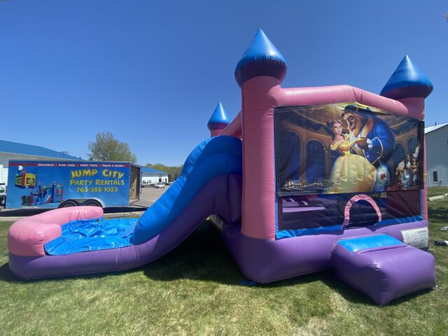 Beauty & The Beast Wet or Dry Pink Slide Combo
