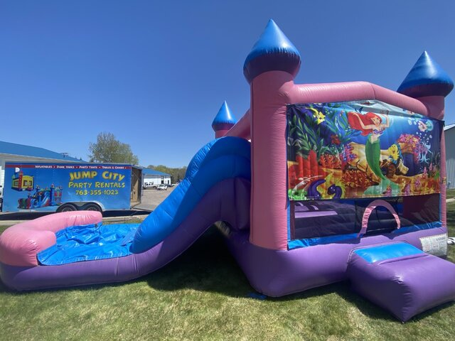 The Little Mermaid Wet or Dry Pink Slide Combo