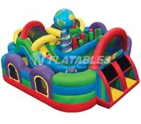 Wacky World Giant Inflatable Maze Combo