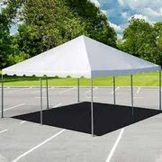 20 x 20 Pole Tent - Installed