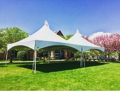 High Peak 40' X 20' Tent - (Asphalt) Installed with Rain Gutters