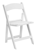 PADDED WHITE WEDDING CHAIR