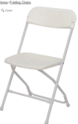 White Wedding Folding Chair