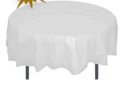 Round White Table Linen