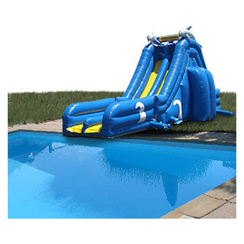 Blue Crush double slide For Pools Wet & Dry