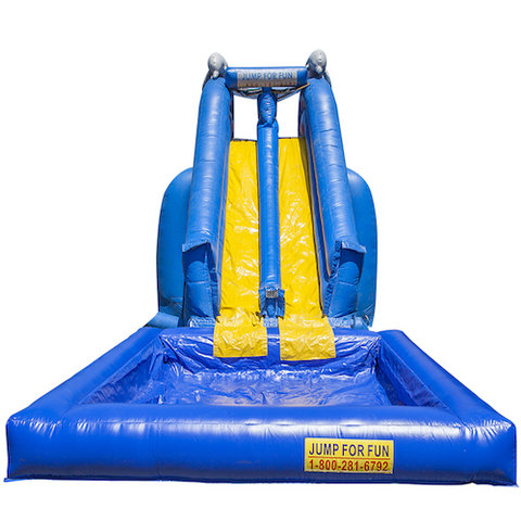 Blue Crush double slide With Pool Wet & Dry