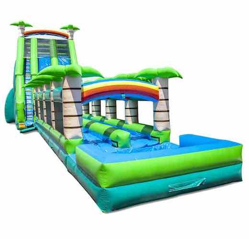 Tropical Paradise Crush 32 Ft HighDouble Water Slide Wet & Dry