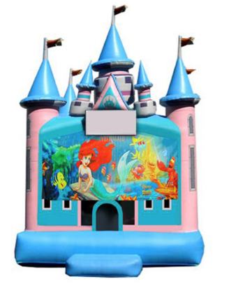 jumper-Pink Magic Castle Obstacle - Little Mermaid
