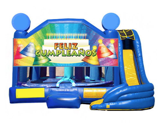 5 in 1 Obstacle Combo - Feliz Cumpleanos