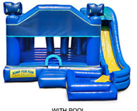 5 in 1 Obstacle Combo w/ small Pool - Can be ordered w 5 in 1 Themes call office