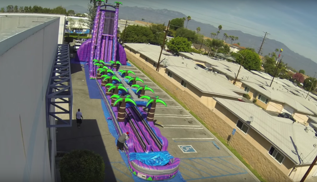 Purple Crush Giant 43' Double Water Slide Wet & Dry
