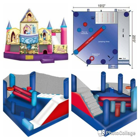 Small Obstacle Course Disney Princess Castle