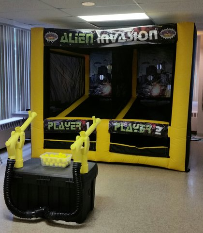 Alien Invasion Air Cannon Game