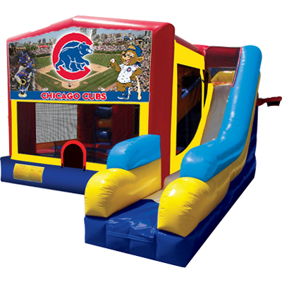 Cubs Bounce House Combo 7n1