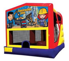 Construction Bounce House Combo 4n1