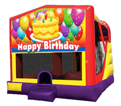 Happy Birthday Banner#2 Bounce House Combo 4n1