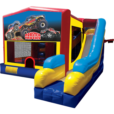 Monster Trucks Bounce House Combo 7n1