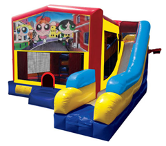 Power Puff Girls Bounce House Combo 7n1