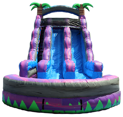 18Ft.  Dual Lane Purple Crush Water Slide