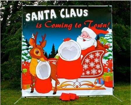 Santa Toss Frame Game
