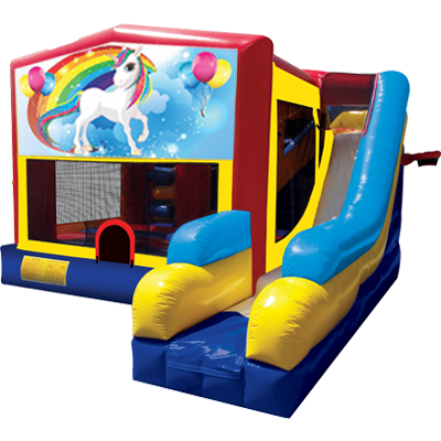 Unicorn Bounce House #1 Combo 7n1