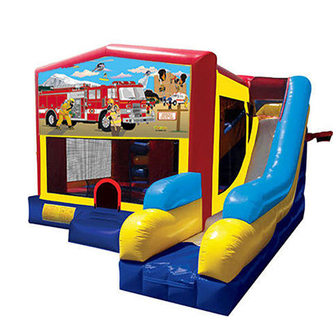 Firemen Rescue Bounce House Combo 7n1